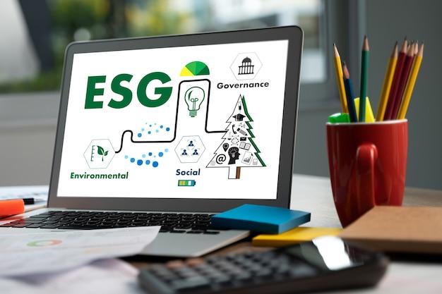 Esg環境社会とガバナンスビジネスマン戦略esgに持続可能な