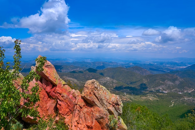 Espadan sierra peak in castellon spain