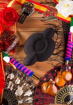 Espana spain toreroの典型的な闘牛士とフラメンコ