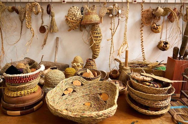 Esparto halfah grass used for crafts basketry