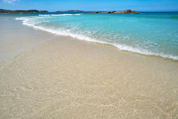 Espineiro lanzada beach in pontevedra of galicia