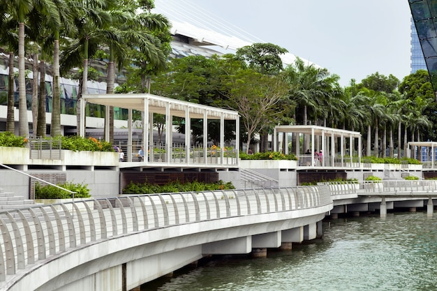 Esplanade outside the marina bay sands shopping centre