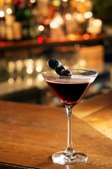 Espresso martini serve on bar table