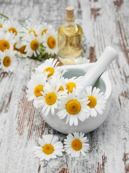 Essencial oil and camomile