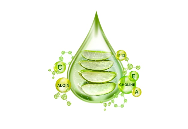 Essential of aloe vera gel concept