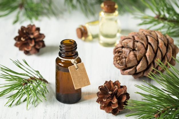 The essential oil of cedar and spruce