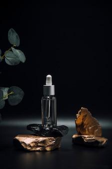 Эфирное масло для ухода за кожей лица стеклянный флакон с пипеткой на камне уход за кожей