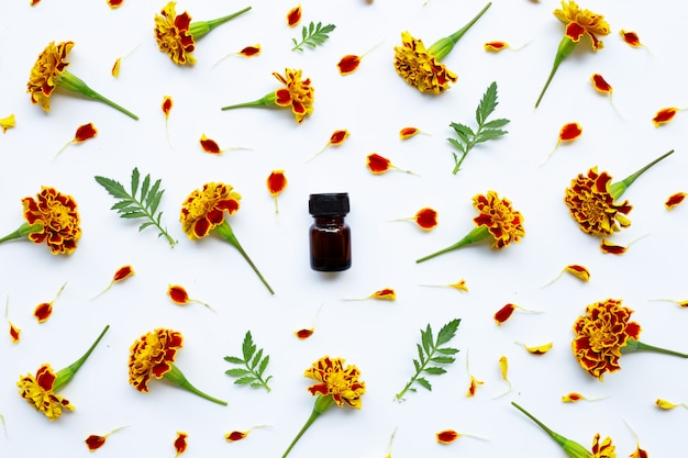 Essential oil of marigold flower