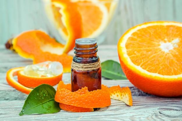 Essential oil of orange. selective focus. nature.
