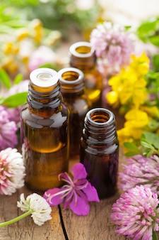 Эфирные масла и лечебные цветы травы