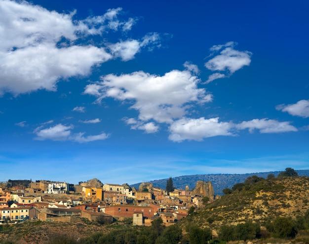 Деревня estada в уэске арагон, испания