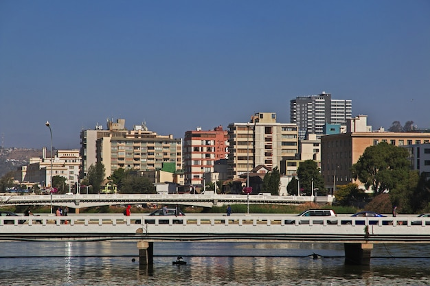 Estero river in vina del mar of chile