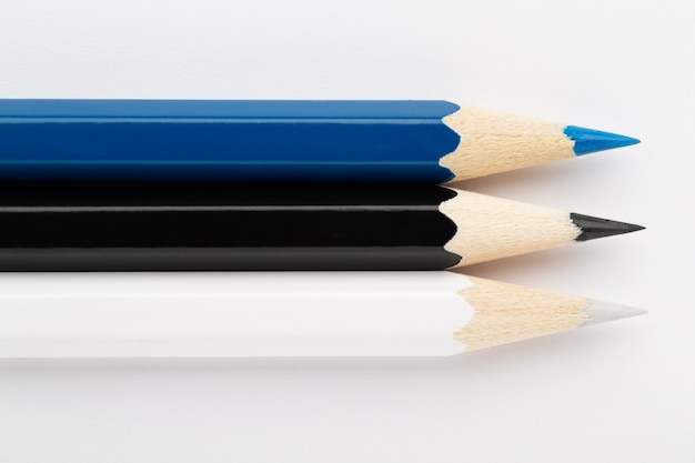 Estonia flag made of colorful wooden pencils