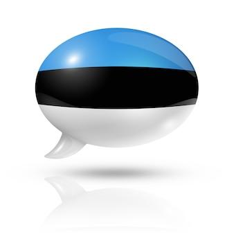 Эстонский флаг речевой пузырь