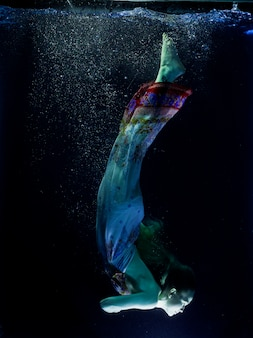 Ethereal woman underwater