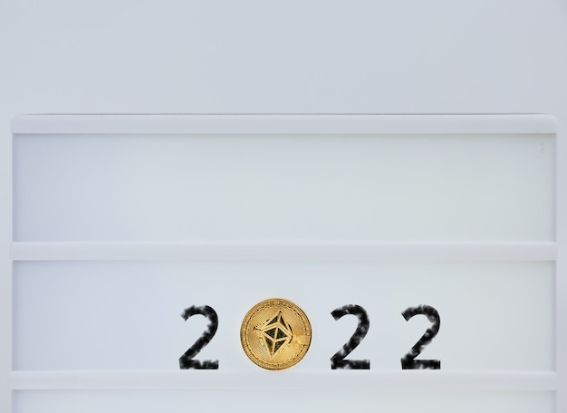 Ethereum 2022. ethereum is next to the numbers 2. prediction of price ethereum in year 2022.