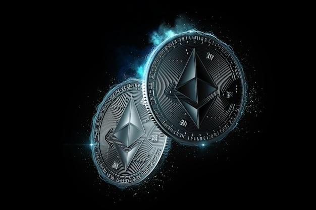 Монеты ethereum светятся в темноте