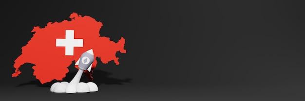 웹사이트 콘텐츠에 대한 스위스의 이더리움 암호화폐 상승 차트