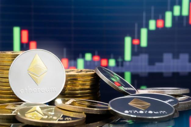 Ethereumと暗号通貨投資のコンセプト。