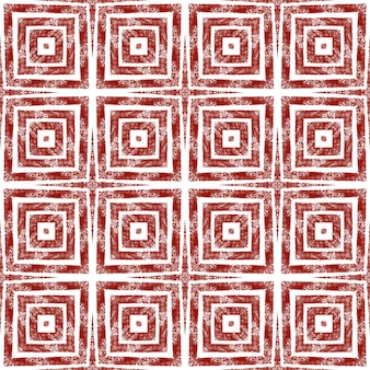 Этническая ручная роспись картины. вино красный симметричный калейдоскоп фон. готовый текстиль, крутой принт, ткань для купальников, обои, упаковка. летнее платье в этническом стиле, расписанное вручную плиткой.
