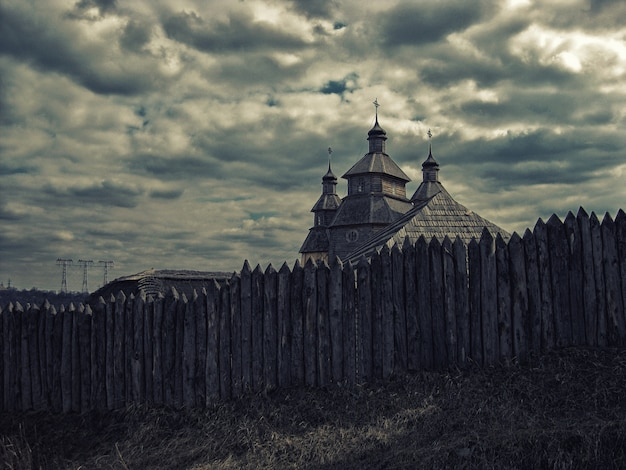 Ethnographic reconstruction of zaporizhzhia sich, cossack church in zaporizhzhia ukraine