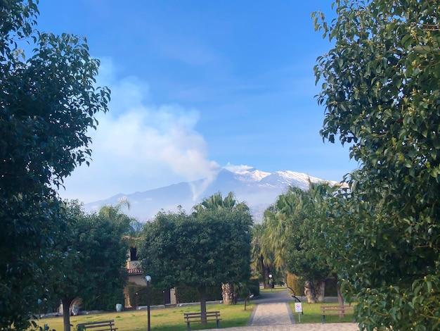 이탈리아 시칠리아 에트나 화산 폭발