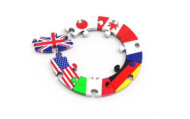 欧州連合(eu)を離脱する英国に関する象徴的な概念。ブレグジット。