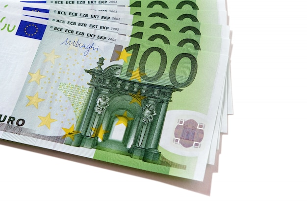 Euro 100 currency bills
