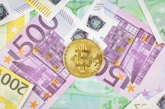 Euro and bitcoin