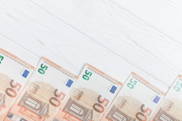Euro bank-notes copy space