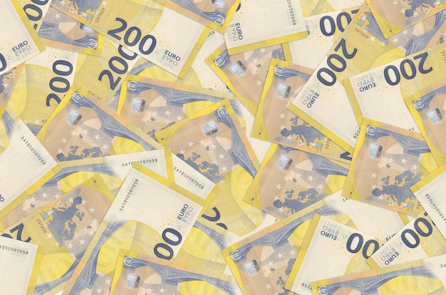 Euro bills lies in big pile rich life conceptual background big amount of money