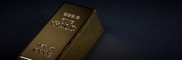 Euro cash and gold bar on a black background