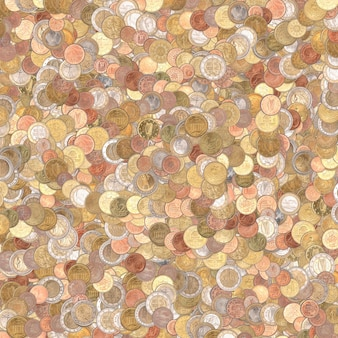 Euro coins background