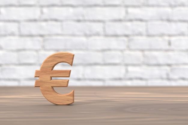 ユーロ通貨のバナーデザイン。 3dレンダリング。