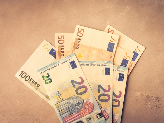 Euro european currency money banknotes