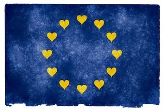 Euro love grunge flag