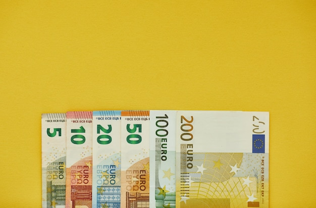 Euro money banknotes background texture