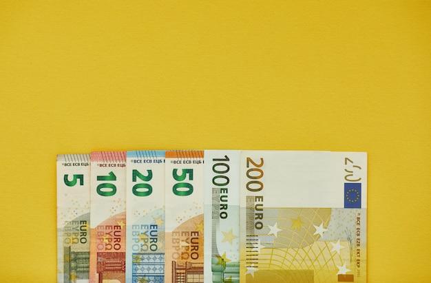 Фоновая текстура банкноты евро деньги
