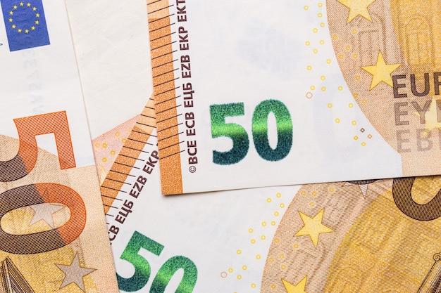 Euro money closeup isolated background.