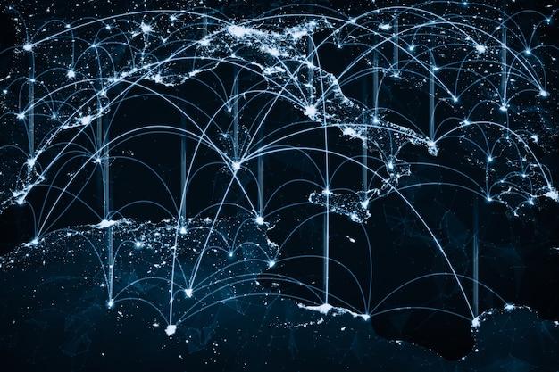 革新的な認識の線で大陸をカバーするヨーロッパのネットワーク接続