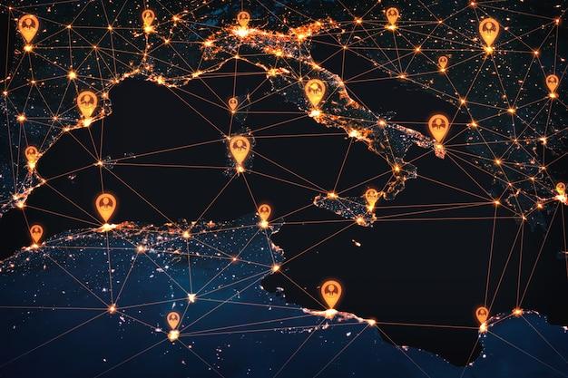 革新的な認識におけるヨーロッパの人々のネットワークと国際的なつながり
