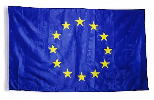 European flag on white
