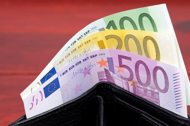 Европейские деньги - евро в кошельке