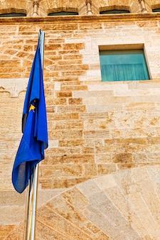 European union   flag in europe.