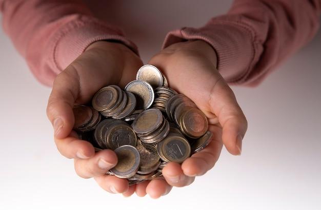 豚の銀行に節約されたユーロ