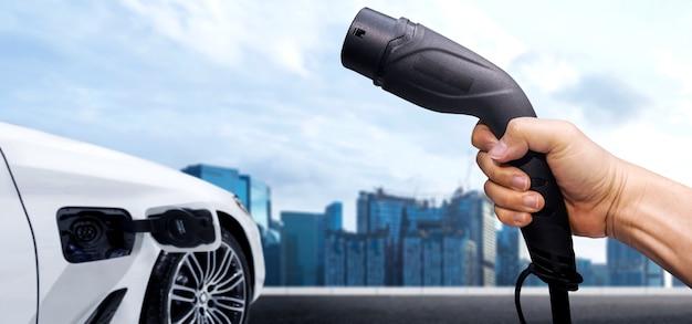 グリーンエネルギーとエコパワーをコンセプトにした電気自動車用ev充電ステーション