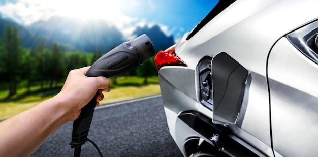 グリーンエネルギーとエコツーリズムをコンセプトにした電気自動車用ev充電ステーション