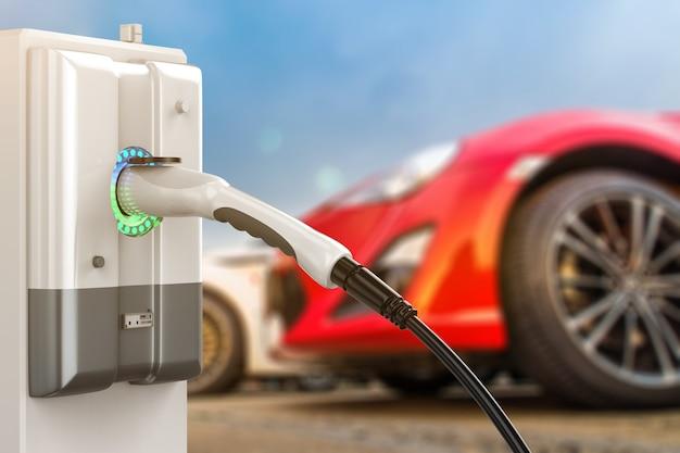 Станции зарядки электромобилей или станции зарядки электромобилей