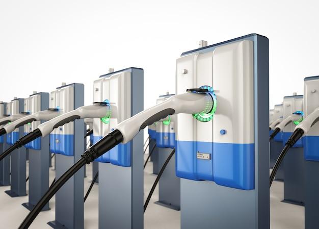 Станции зарядки электромобилей или зарядные станции электромобилей