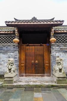Вечерняя ретро-китайская архитектура китайская ночь